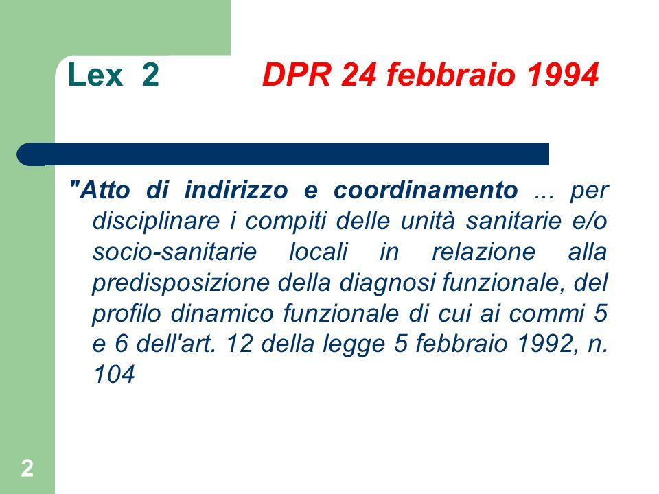 Lex 2 DPR 24 febbraio 1994 Atto di indirizzo e coordinamento...