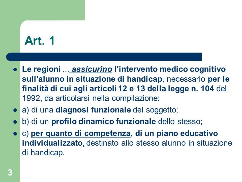 Art.1 Le regioni...