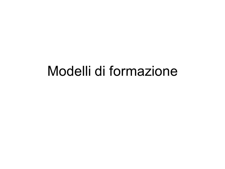 Modelli di formazione