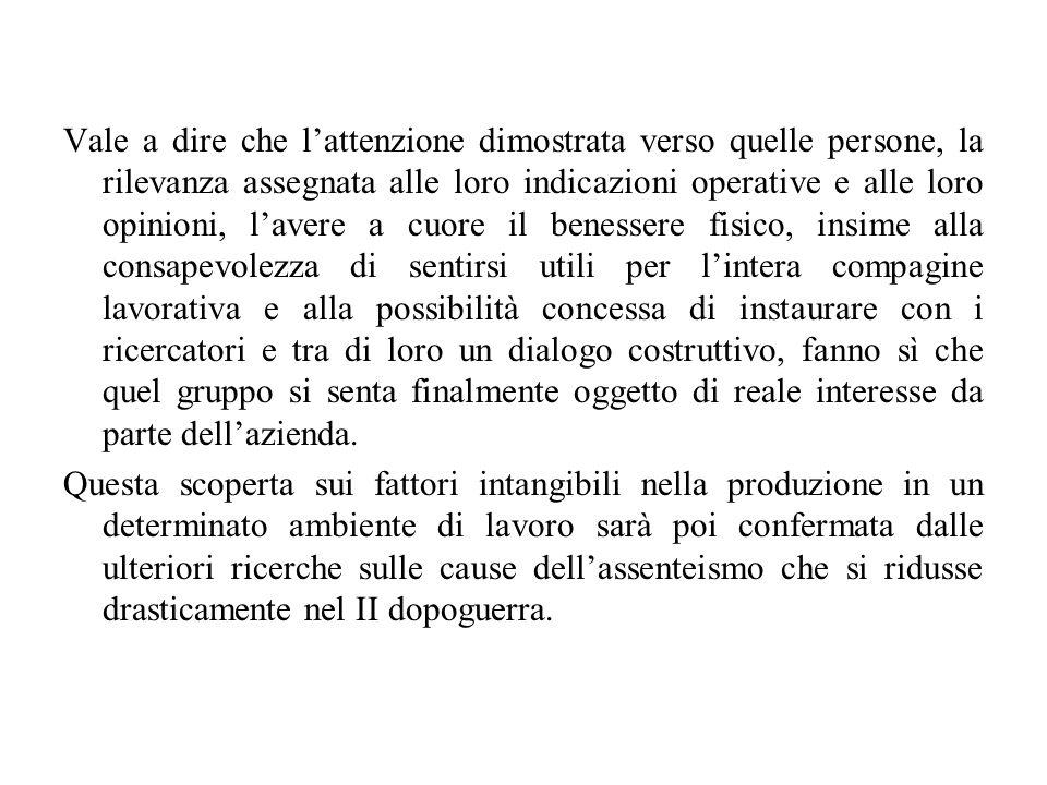 Settant'anni dopo le ricerche di E.Mayo, F. Novara/G.