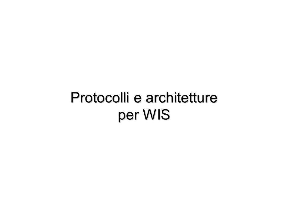 Protocolli e architetture per WIS