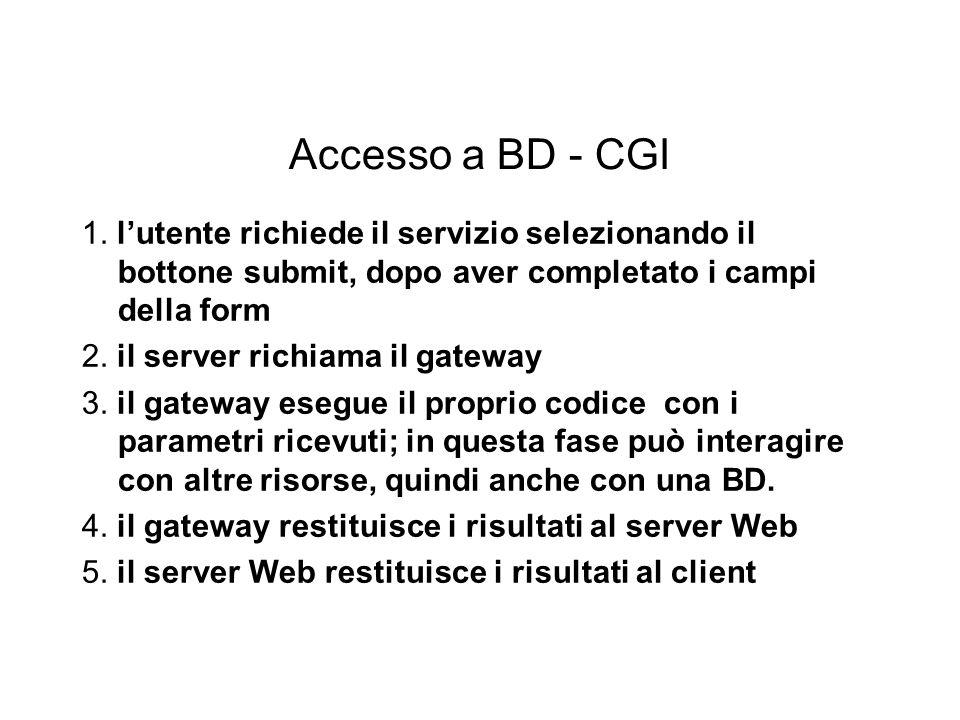 Accesso a BD - CGI 1.