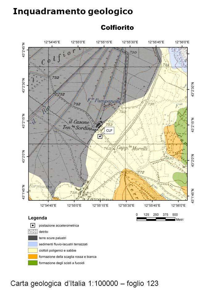 Inquadramento geologico Carta geologica d'Italia 1:100000 – foglio 123