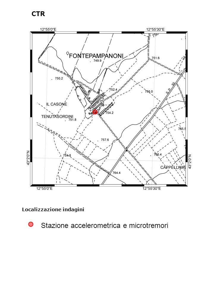Localizzazione indagini CTR Stazione accelerometrica e microtremori