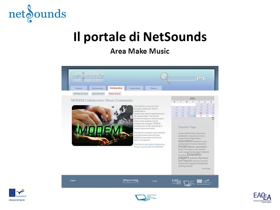 Il portale di NetSounds Area Make Music