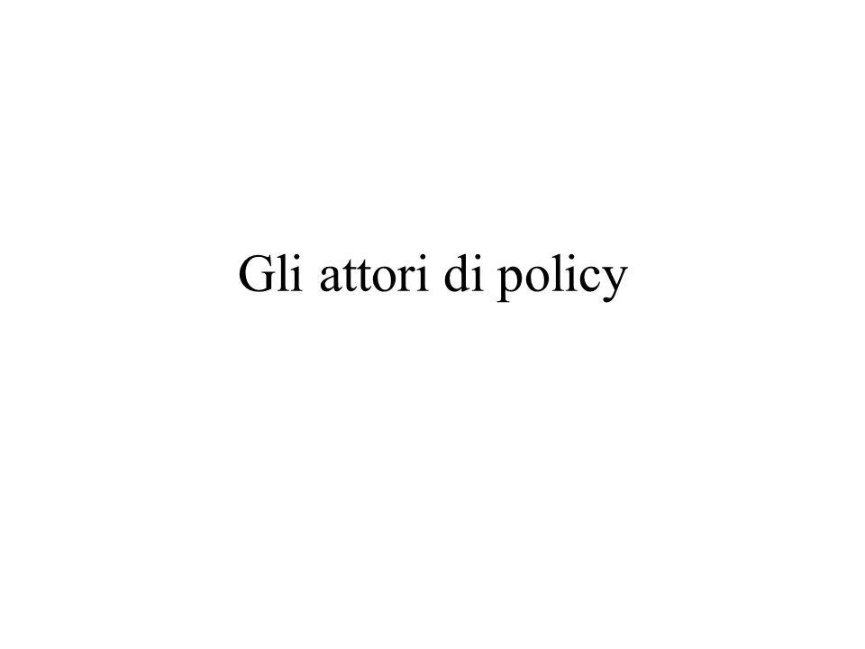 Gli attori di policy
