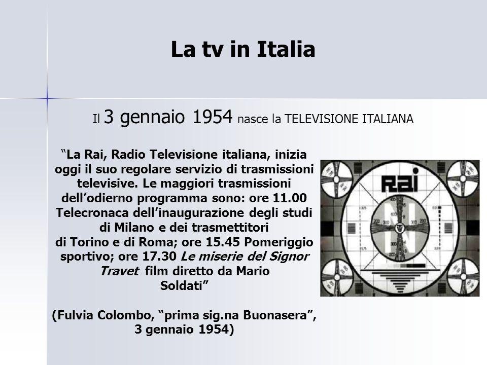 CAROSELLO Carosello prende avvio sull'unica rete televisiva Nazionale.