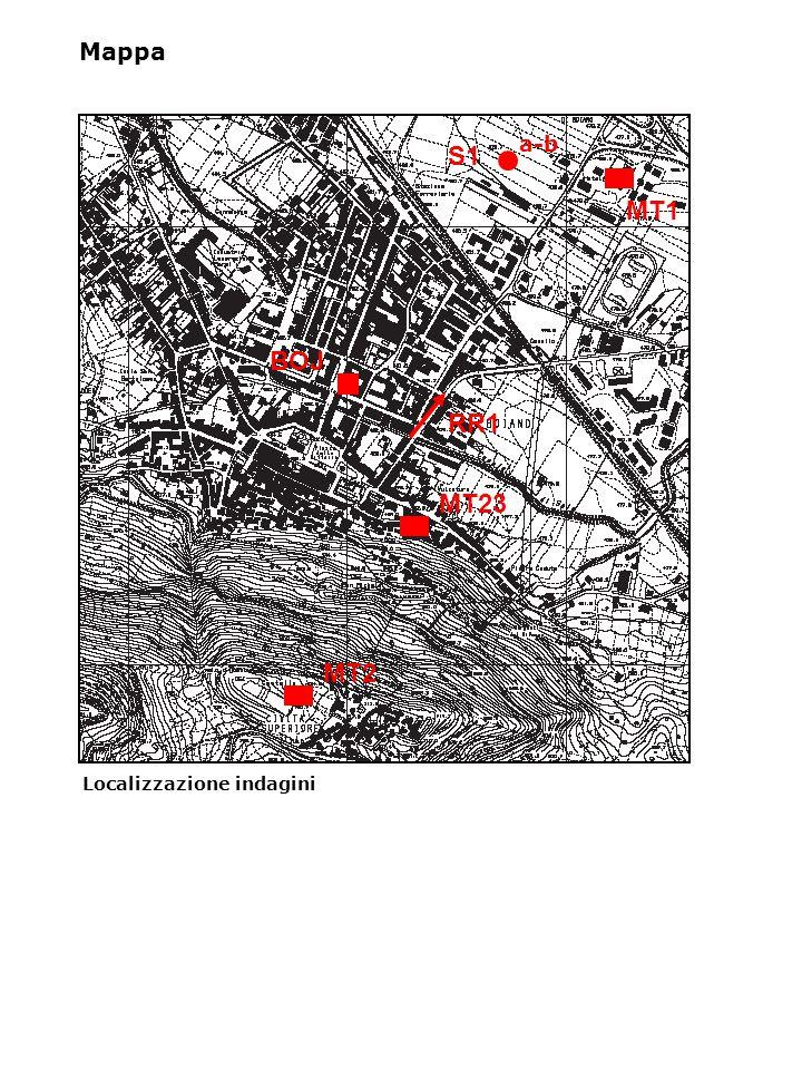 Localizzazione indagini Mappa a-b S1 MT1 MT23 MT2 BOJ RR1