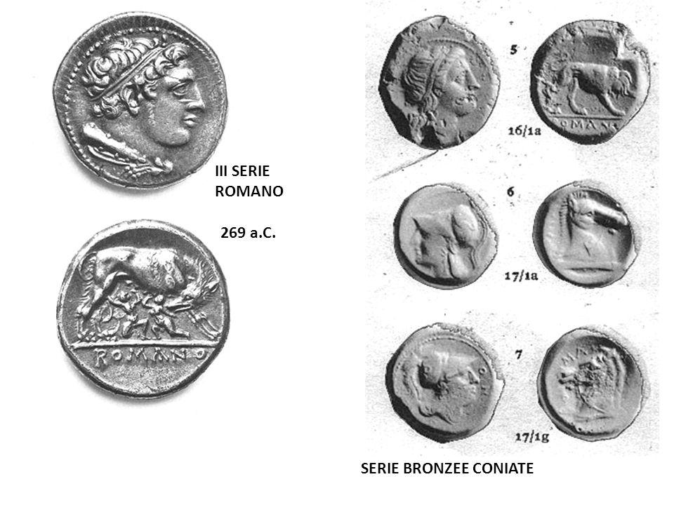 I GUERRA PUNICA (264-241 a.C.) IV SERIE ROMANO TERMINUS POST QUEM: 275 a.C.: MORTE DI ARSINOE II