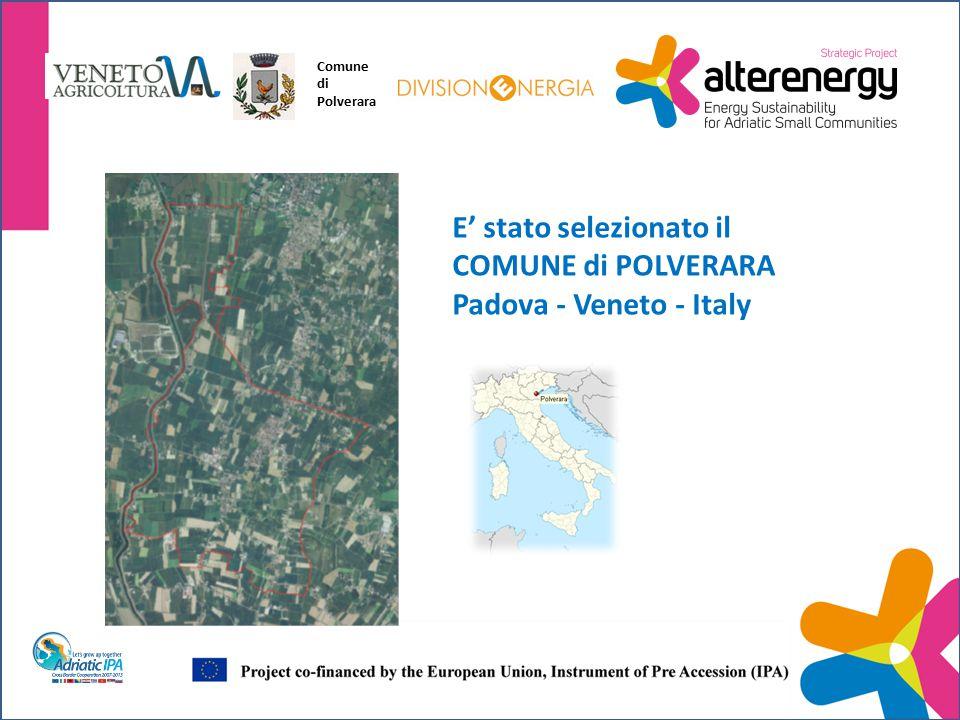 E' stato selezionato il COMUNE di POLVERARA Padova - Veneto - Italy Comune di Polverara