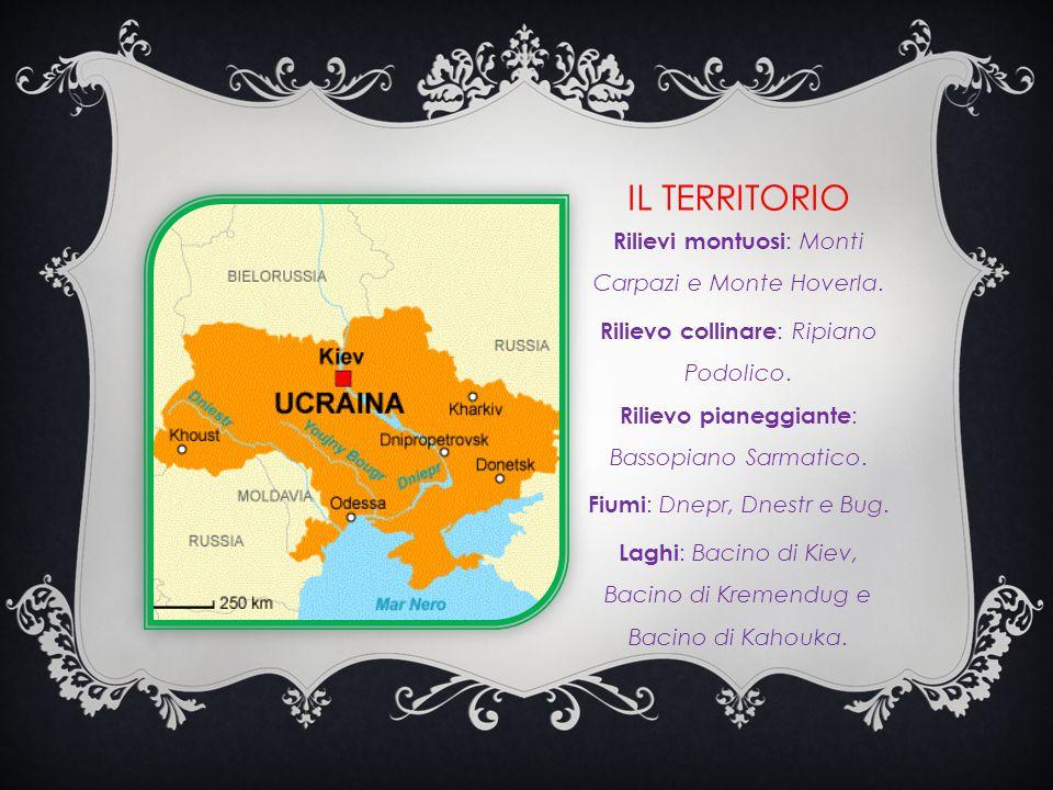 IL TERRITORIO Rilievi montuosi : Monti Carpazi e Monte Hoverla.