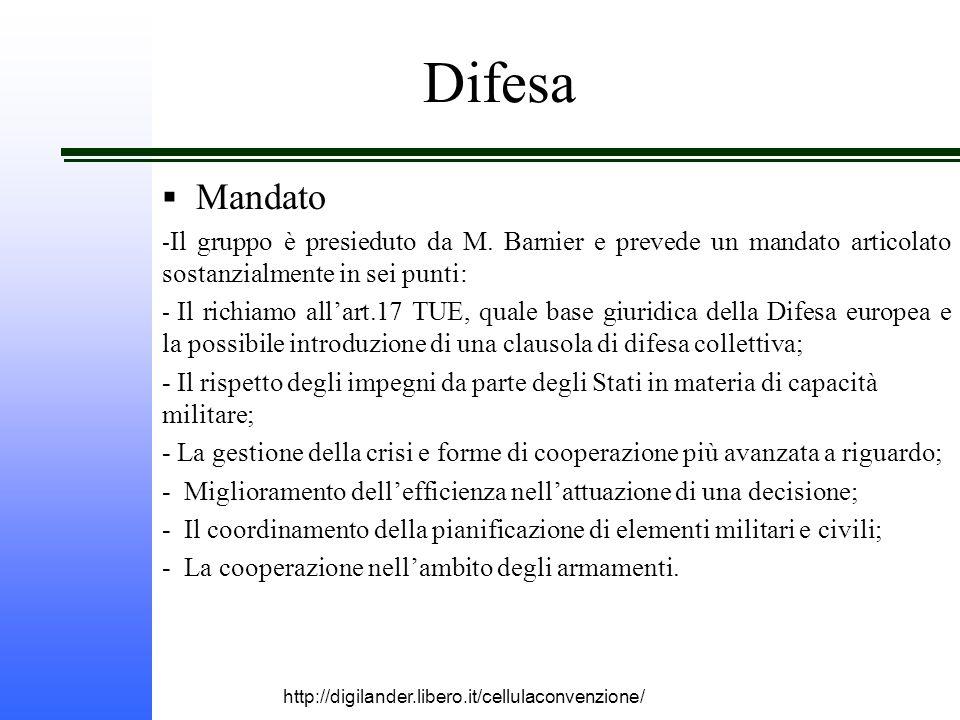 http://digilander.libero.it/cellulaconvenzione/ Difesa  Mandato - Il gruppo è presieduto da M.