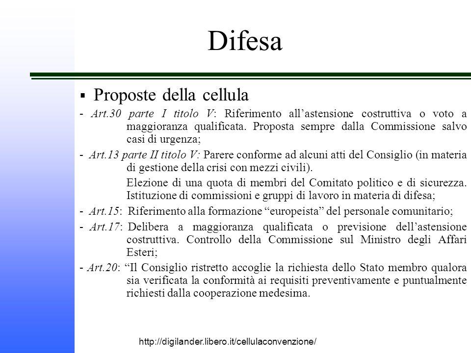 http://digilander.libero.it/cellulaconvenzione/ Difesa  Proposte della cellula - Art.30 parte I titolo V: Riferimento all'astensione costruttiva o voto a maggioranza qualificata.