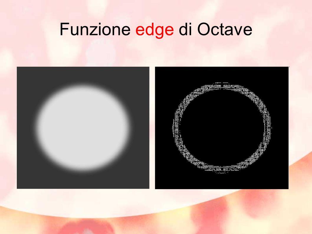 Funzione edge di Octave