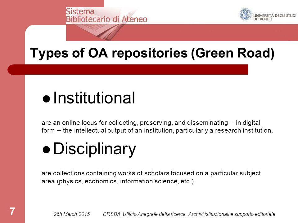 DRSBA.Ufficio Anagrafe della ricerca, Archivi istituzionali e supporto editoriale 58 PART TWO c.