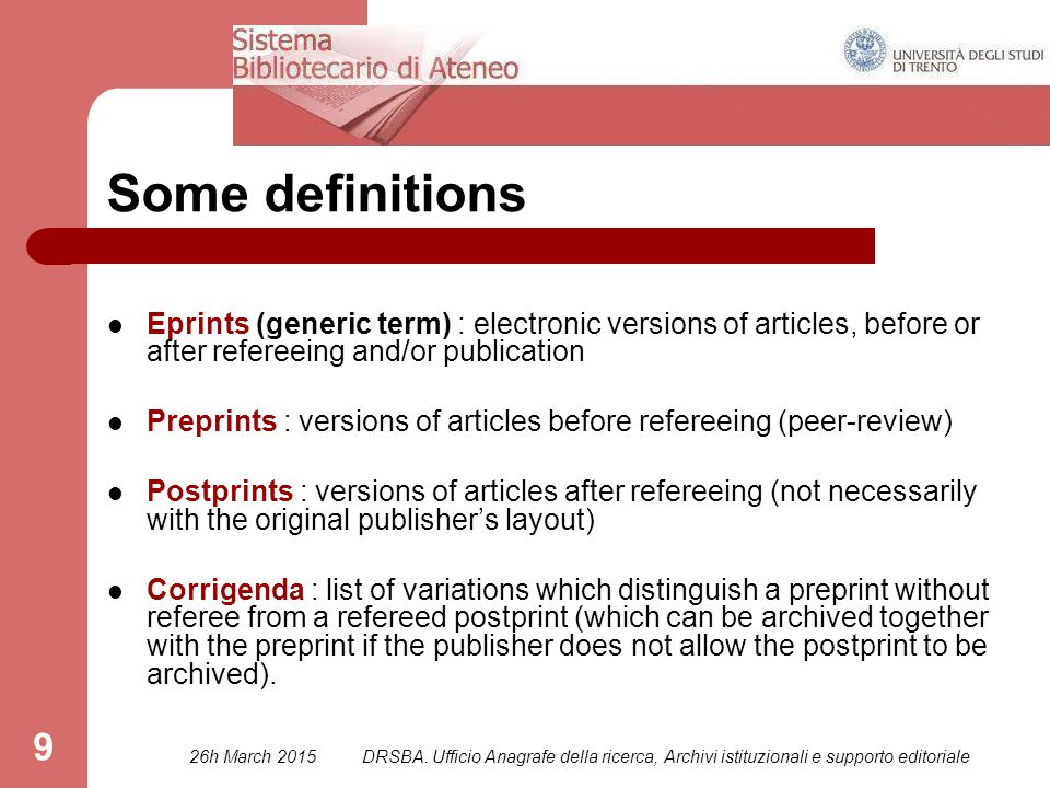 50 OA and EMBARGO Embargo is a period during which the thesis is kept secret in an institutional archive.