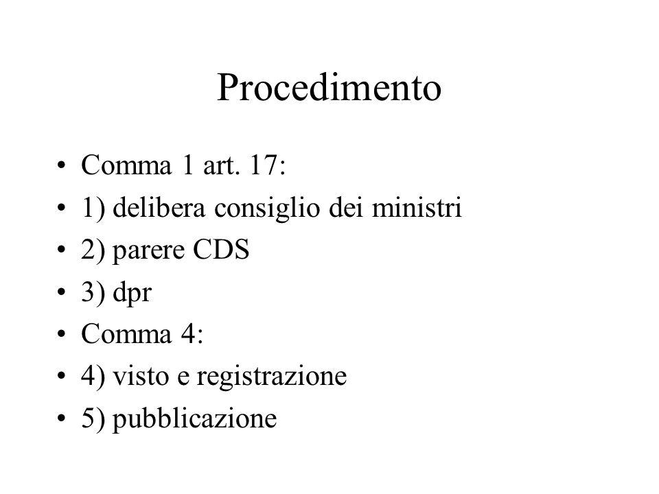 Procedimento Comma 1 art.