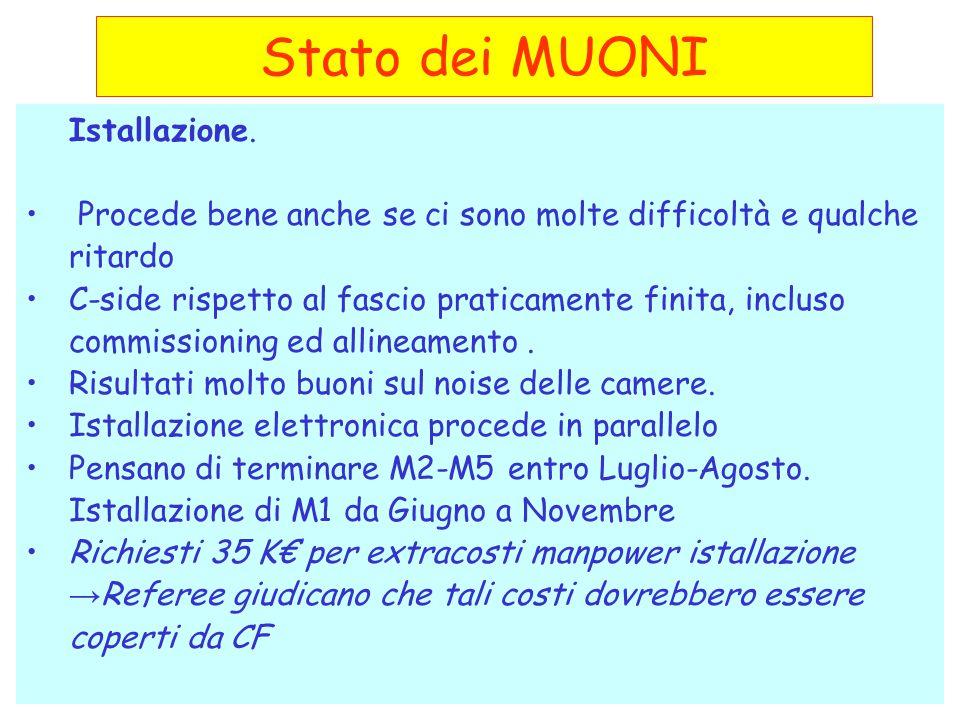- Referees LHCB-CSN1 05/077 Stato dei MUONI Istallazione.