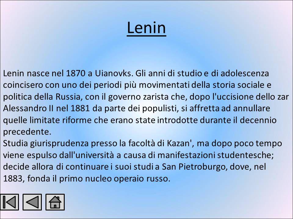 Rivoluzione Russa Dittatura di Stalin Rivoluzione Russa Dittatura di Stalin Vladimir Il ič Ul janov detto Lenin Josif Vissarionovič Džugašvili detto Stalin I protagonisti