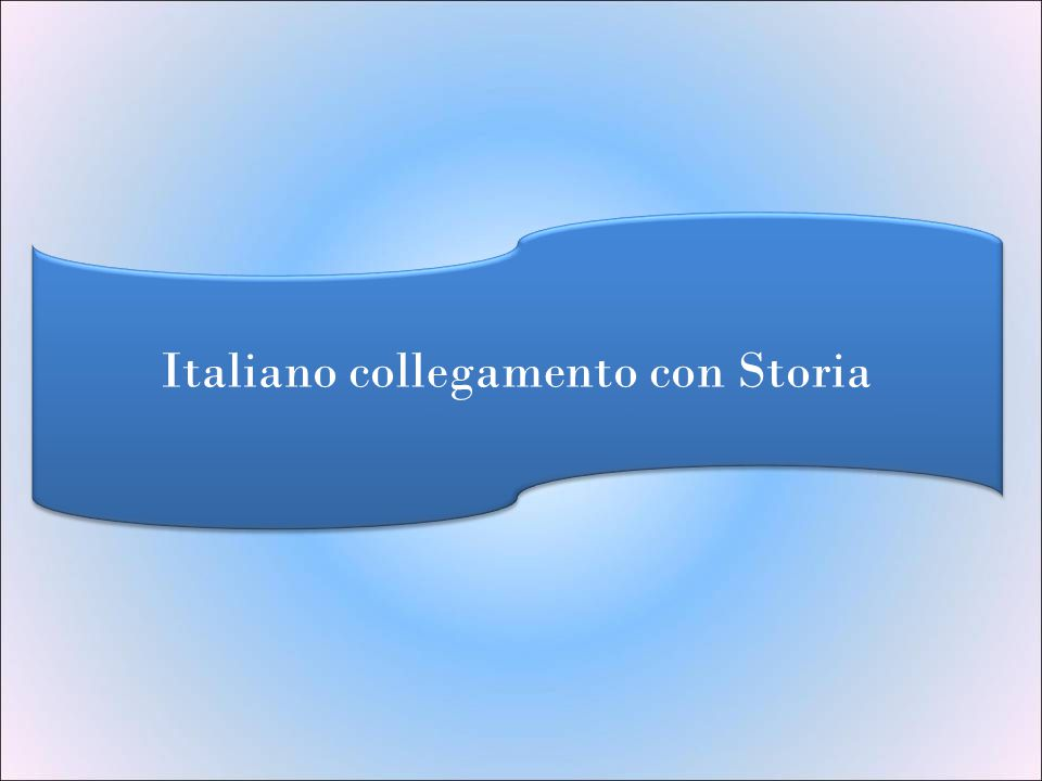 Italiano collegamento con Storia