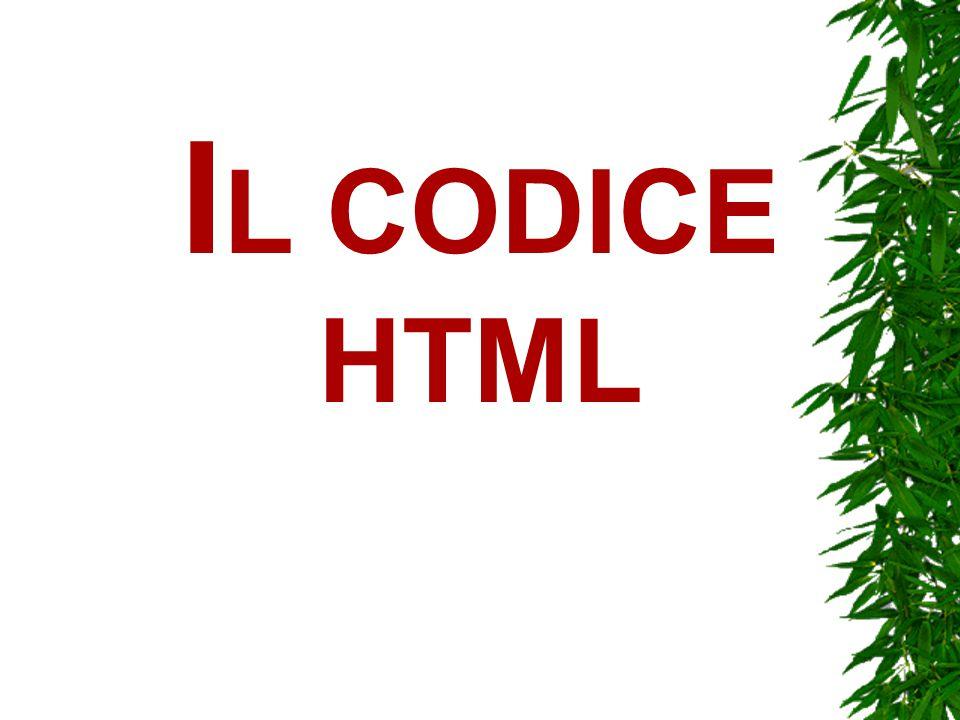 I L CODICE HTML