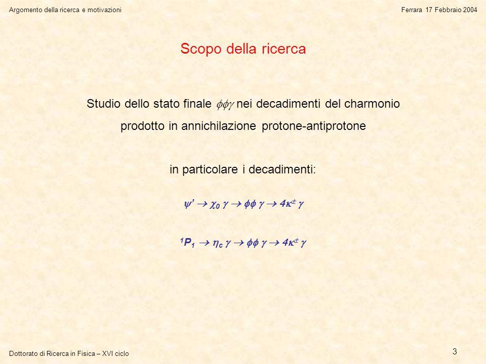 Dottorato di Ricerca in Fisica – XVI ciclo L'analisi dei datiFerrara 17 Febbraio 2004 24 Il metodo della variazione della massa della  Cambiando simultaneament e la massa dei due mesoni , il fit converge principalmente per il valore esatto.