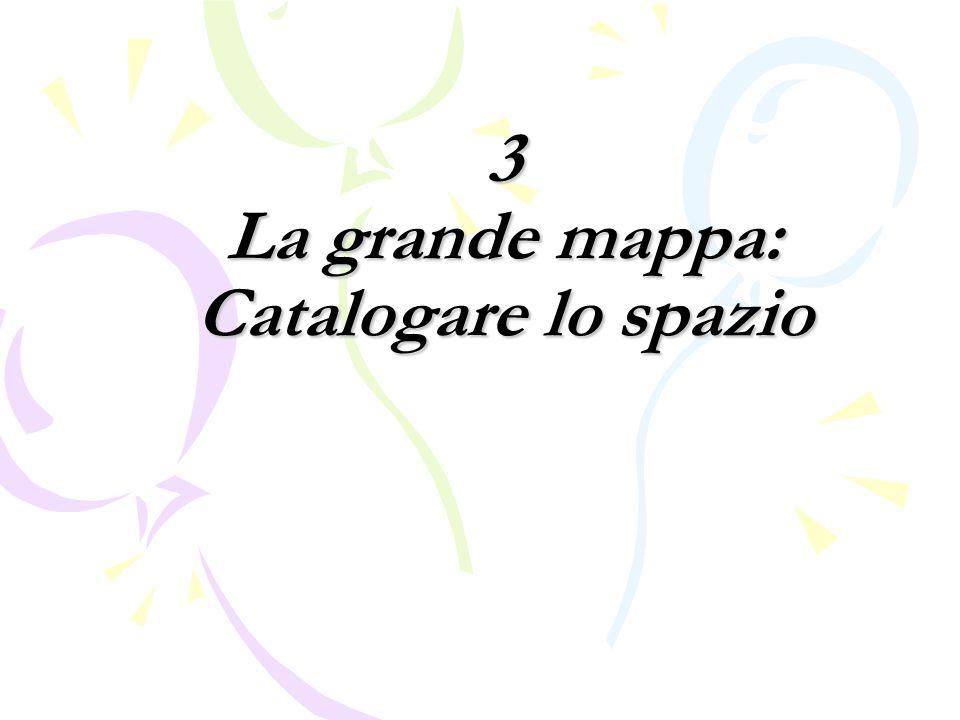 3 La grande mappa: Catalogare lo spazio