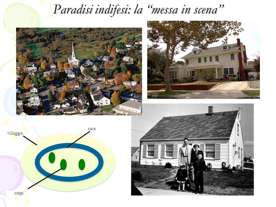 Paradisi indifesi: la messa in scena villaggio casa corpi