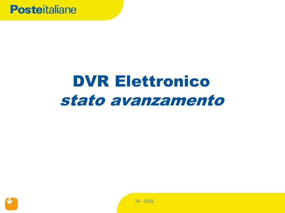 TA - GCSL DVR Elettronico stato avanzamento