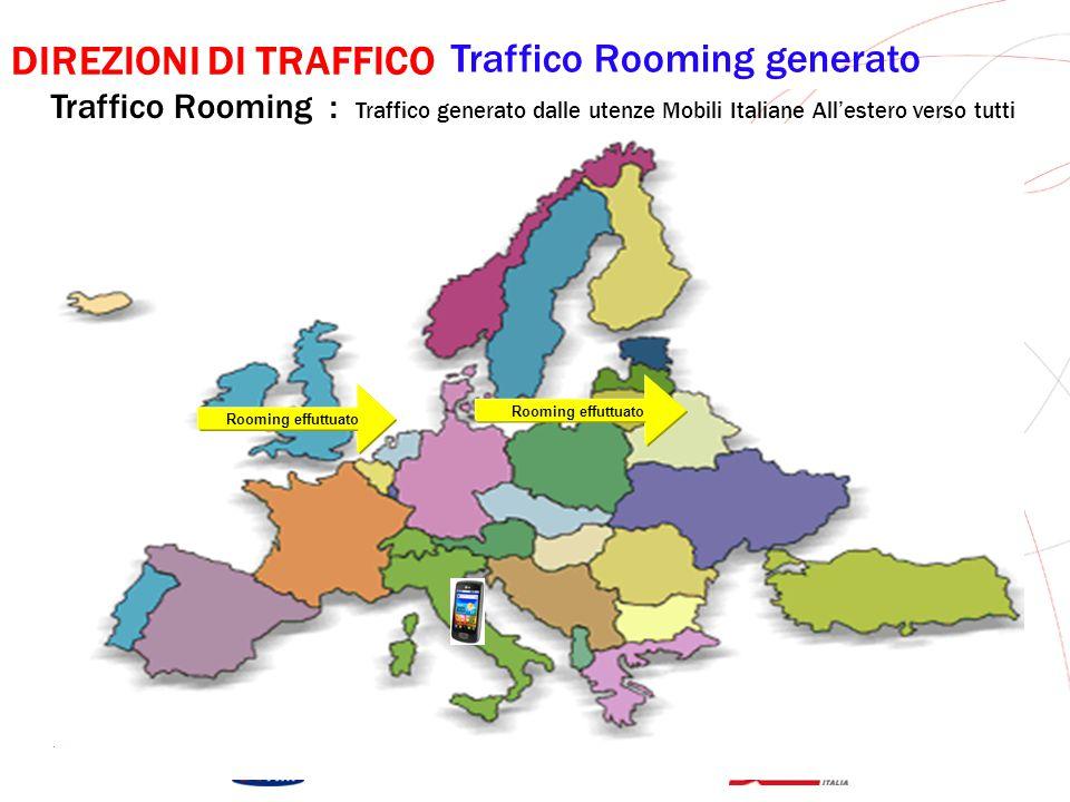 GRUPPO TELECOM ITALIA Rooming Ricevuto DIREZIONI DI TRAFFICO Traffico Rooming Ricevuto Traffico Rooming : Traffico Ricevuto dalle utenze Mobili Italiane All'estero da tutti