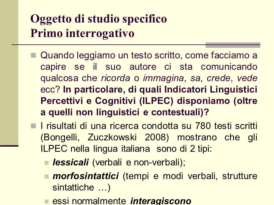 Verso lo studio 2 Sulla base dei risultati emersi dallo studio 1 riguardanti: 1) ILPEC; 2) dimensione futura e 3) autorenferenzialità abbiamo progettato lo studio 2.