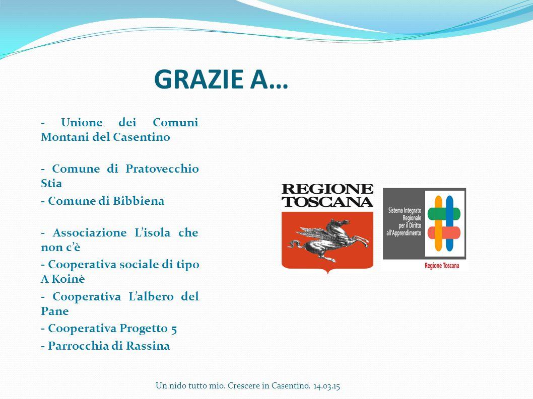 GRAZIE A… - Unione dei Comuni Montani del Casentino - Comune di Pratovecchio Stia - Comune di Bibbiena - Associazione L'isola che non c'è - Cooperativ