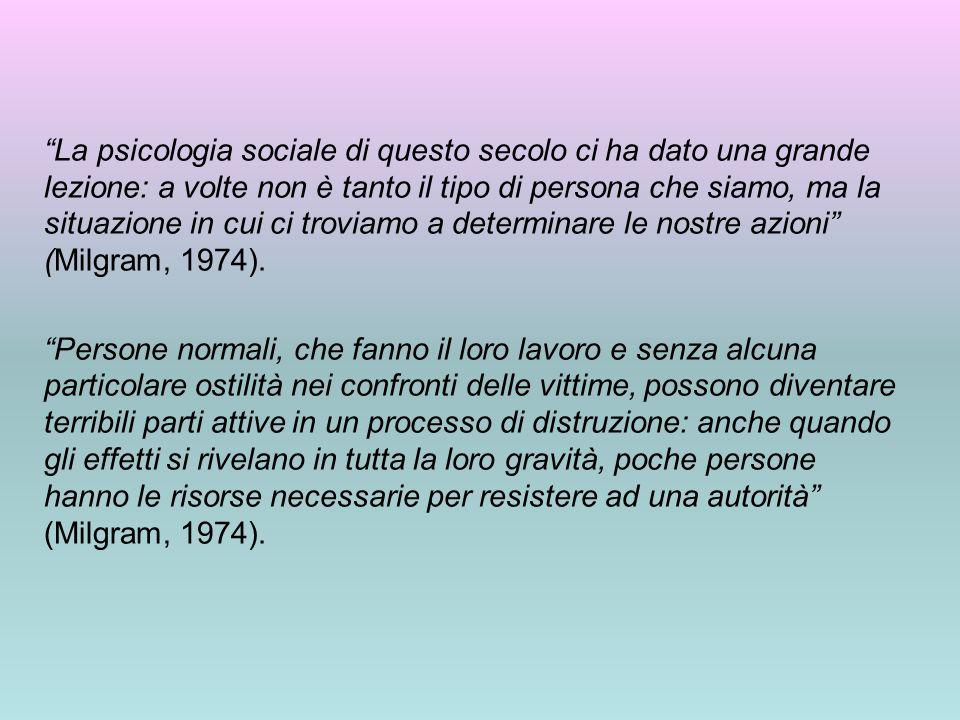 """""""La psicologia sociale di questo secolo ci ha dato una grande lezione: a volte non è tanto il tipo di persona che siamo, ma la situazione in cui ci tr"""