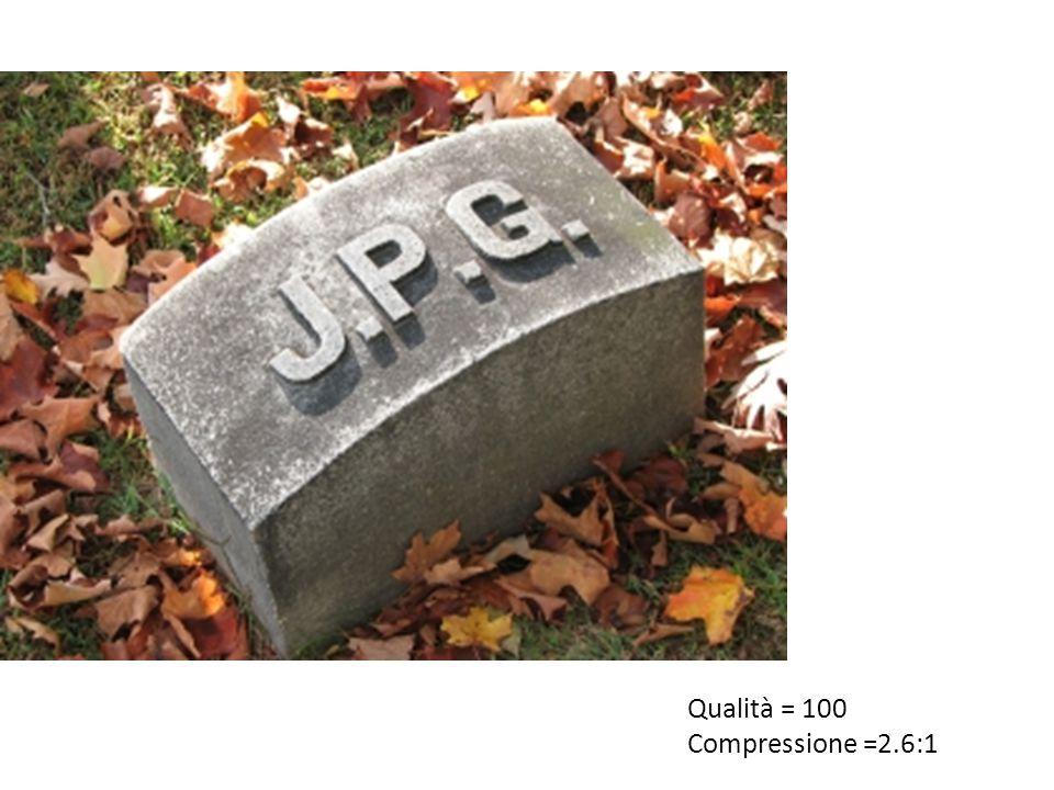 Qualità = 100 Compressione =2.6:1