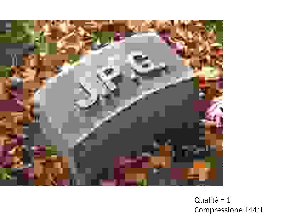 Qualità = 1 Compressione 144:1
