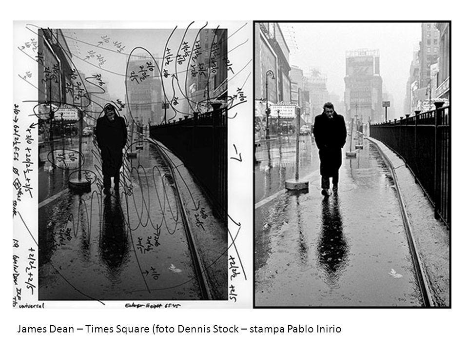 James Dean – Times Square (foto Dennis Stock – stampa Pablo Inirio