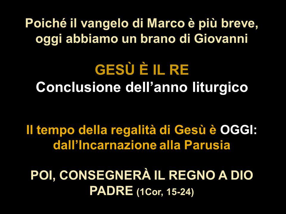 Monges de Sant Benet de Montserrat Il salmo 95 d'Arvo Pärt: Cantate Domino , ci invita a proclamare davanti ai popoli che IL SIGNORE È RE (v 10) Cristo Re anno B 06