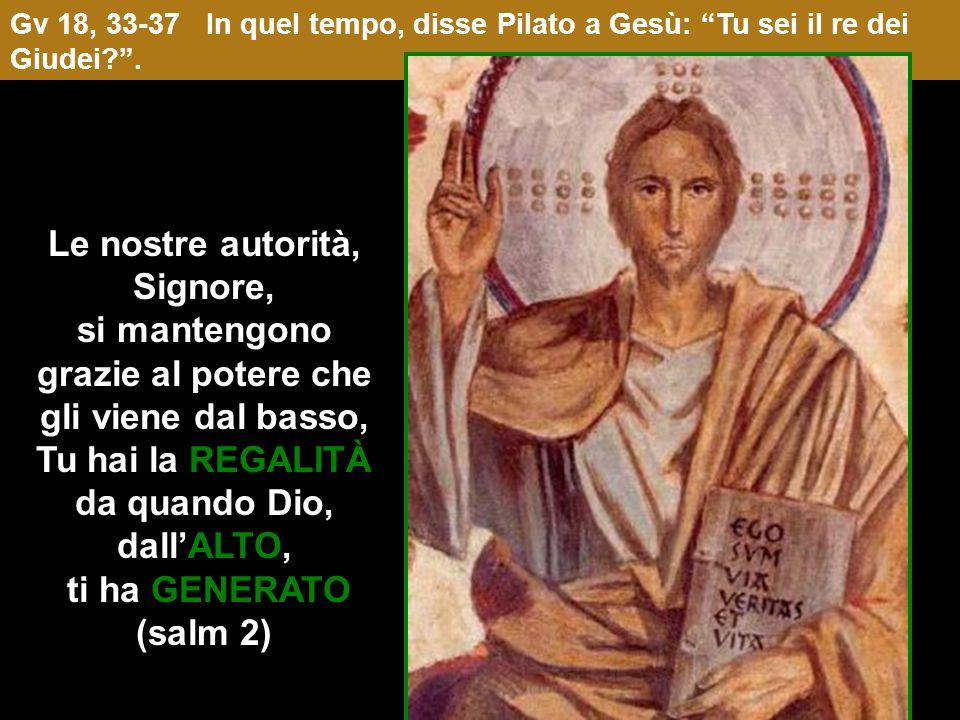 REGALITÀ Nella Torre Antonia, residenza di Pilato, Gesù proclama la sua REGALITÀ Luogo del Litostroto