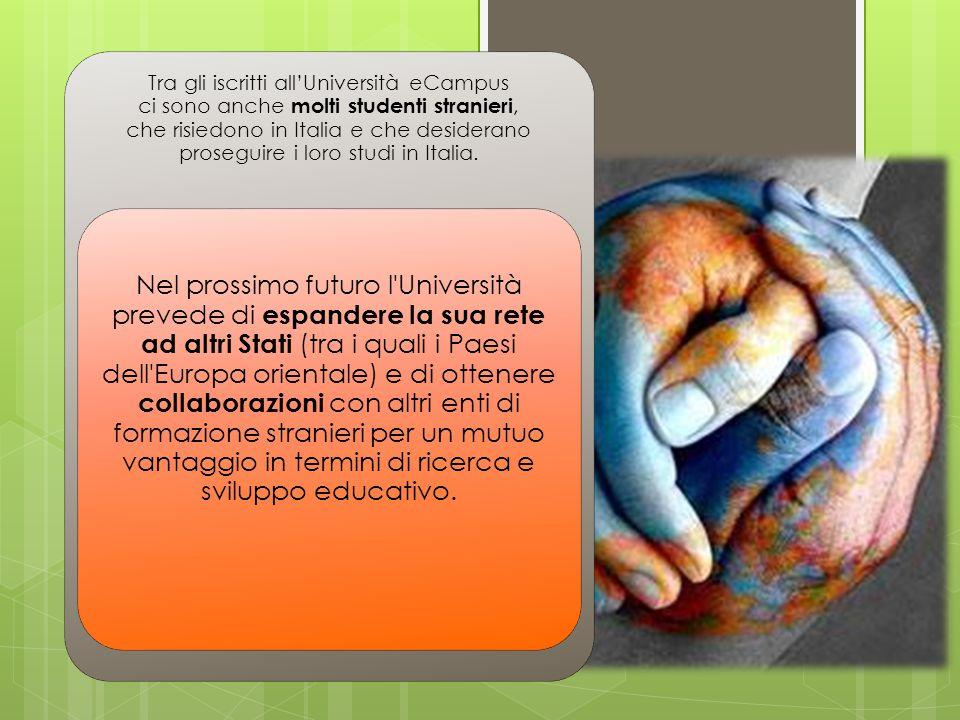 Tra gli iscritti all'Università eCampus ci sono anche molti studenti stranieri, che risiedono in Italia e che desiderano proseguire i loro studi in Italia.