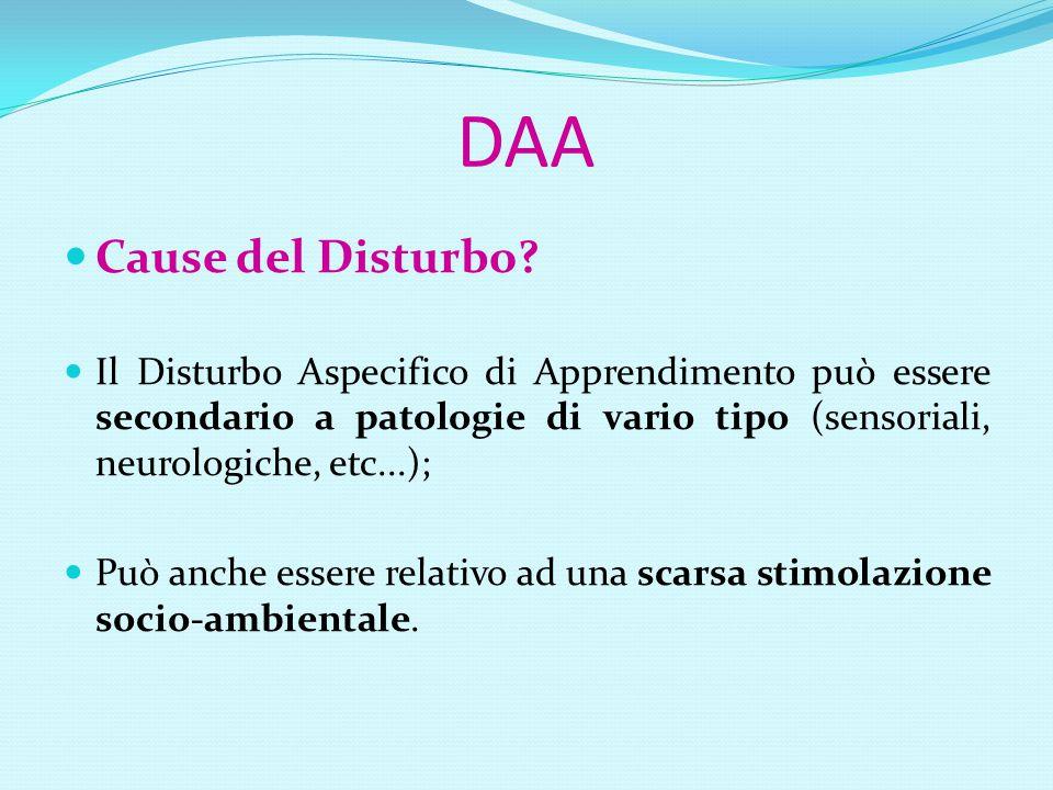 Dislessia Evolutiva (DE) Definizione: La DE è un disturbo manifestato nell'apprendimento della lettura nonostante istruzione adeguata, in assenza di deficit intellettivi, neurologici o sensoriali e con adeguate condizioni socioculturali