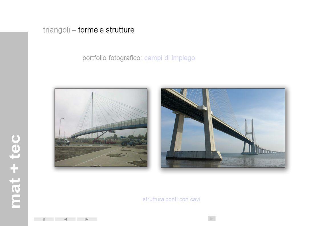 portfolio fotografico: campi di impiego struttura ponti a traliccio rilievo degli spazi con trilaterazioni triangoli – forme e strutture