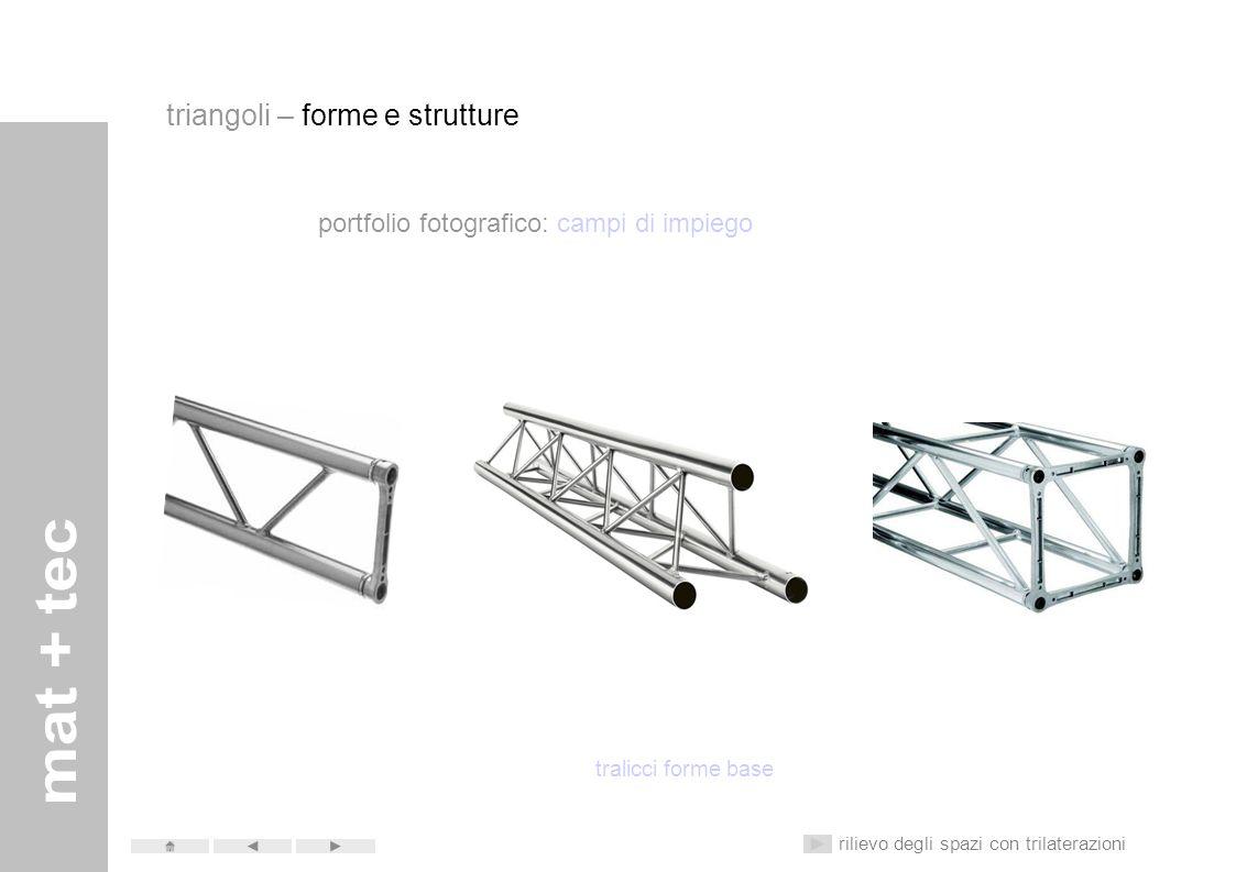 scuola secondaria di primo grado don milani Matematica Tecnologia Triangoli – forme e strutture Rilievo degli spazi con trilaterazioni