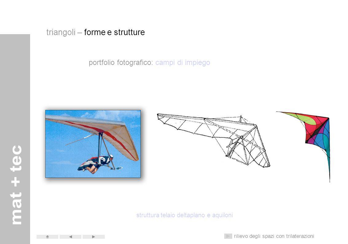 portfolio fotografico: campi di impiego struttura telaio aerei rilievo degli spazi con trilaterazioni triangoli – forme e strutture