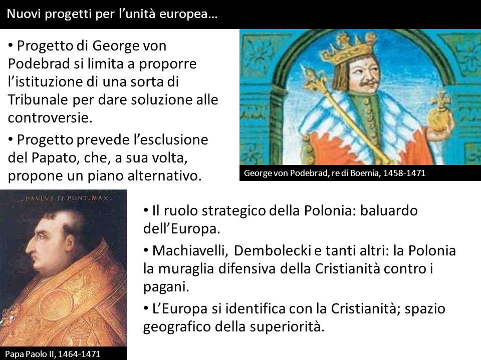 Europa: un concetto e un'identità… Inizio età moderna: utilizzi del termine di Europa: 1) Costruzione identità comune.