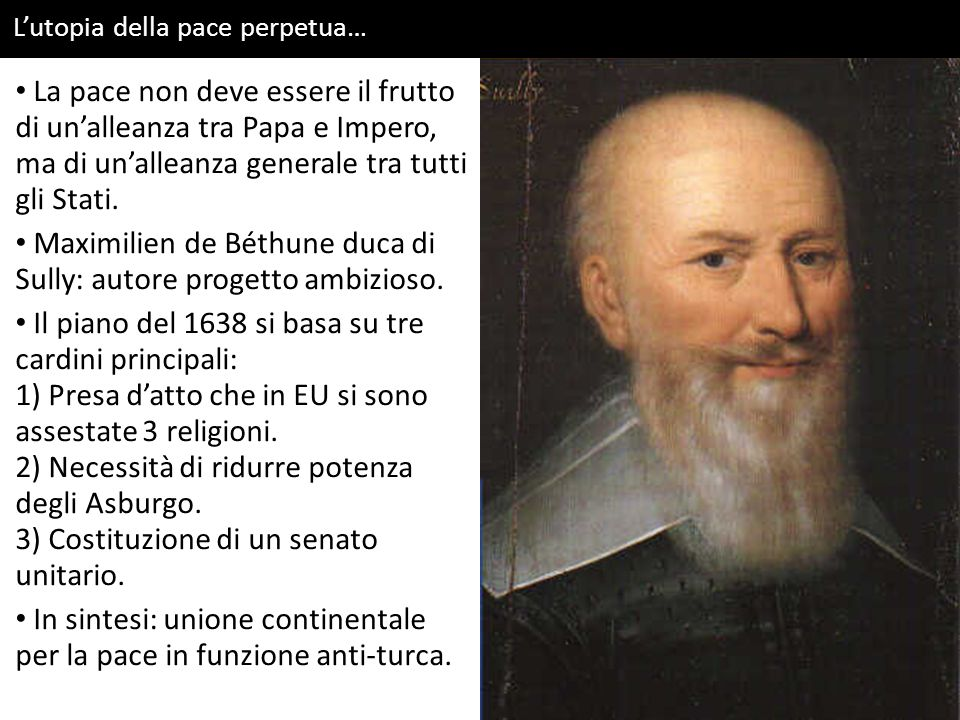 L'utopia della pace perpetua… La pace non deve essere il frutto di un'alleanza tra Papa e Impero, ma di un'alleanza generale tra tutti gli Stati. Maxi