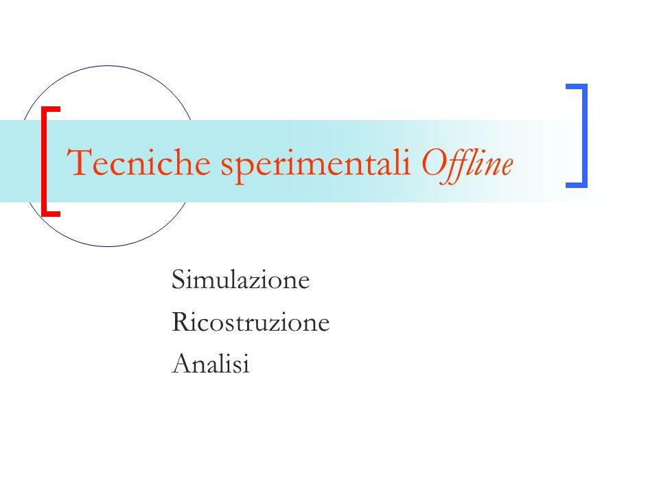 Tecniche sperimentali Offline Simulazione Ricostruzione Analisi