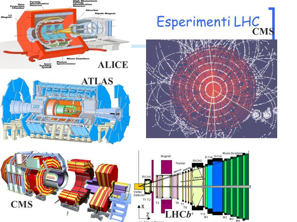 CMS ATLAS LHCb CMS ALICE Esperimenti LHC
