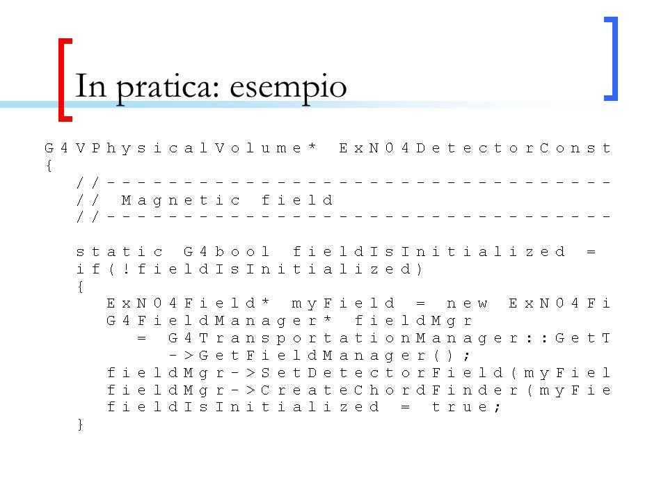 In pratica: esempio