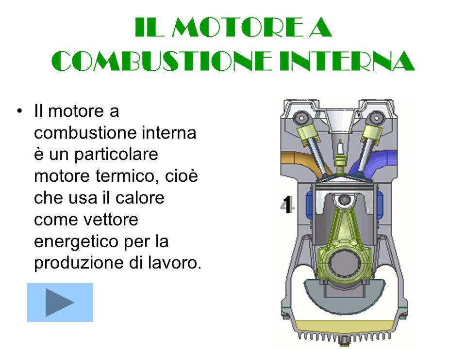 IL MOTORE A COMBUSTIONE INTERNA Il motore a combustione interna è un particolare motore termico, cioè che usa il calore come vettore energetico per la produzione di lavoro.