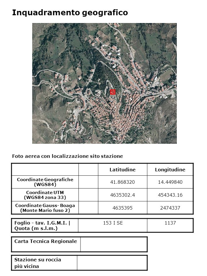 Inquadramento geologico Estratto da The Molise earthquake strong motion data set – October 31 2002 – December 30 2003